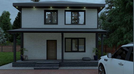 каркасный дом в пригороде владивостока солнечный