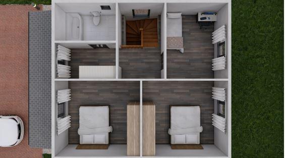 план 2 этажа каркасный дом 144 м2 солнечный