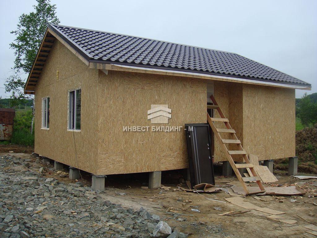 строительство дачи, дачного домика во Владивостоке: каркасные дачи