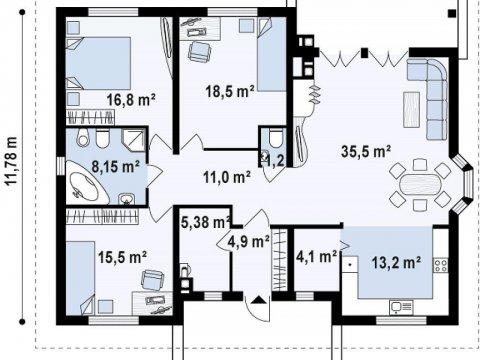 Дом из пенобетона 200м2, район Черная речка